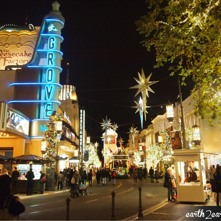 Holiday nights at The Grove in Hollywood. Bedford Corporate housing has nearby Short Term Apartments in Los Angeles available.