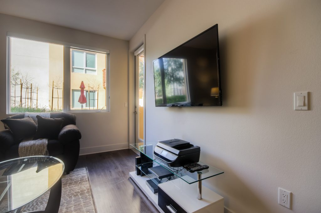 Televisions in every unit at Bedford Corporate Housing's property in Playa Vista. For the best corporate apartments in Los Angeles, contact Bedford.