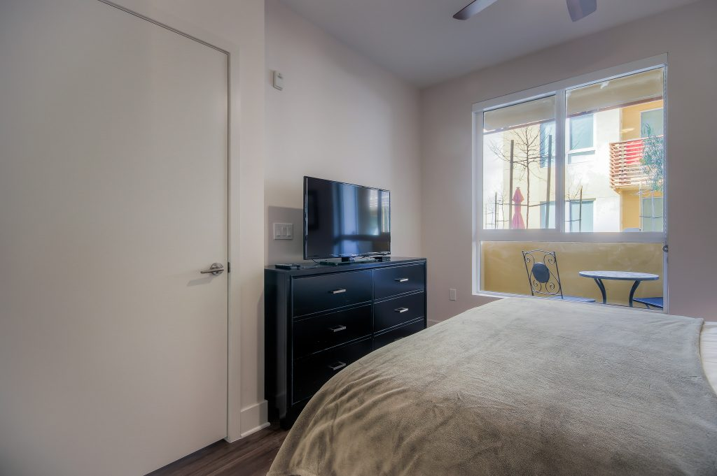 Televisions in every bedroom at Bedford Corporate Housing's property in Playa Vista. For the best short term lease in Los Angeles, contact Bedford.