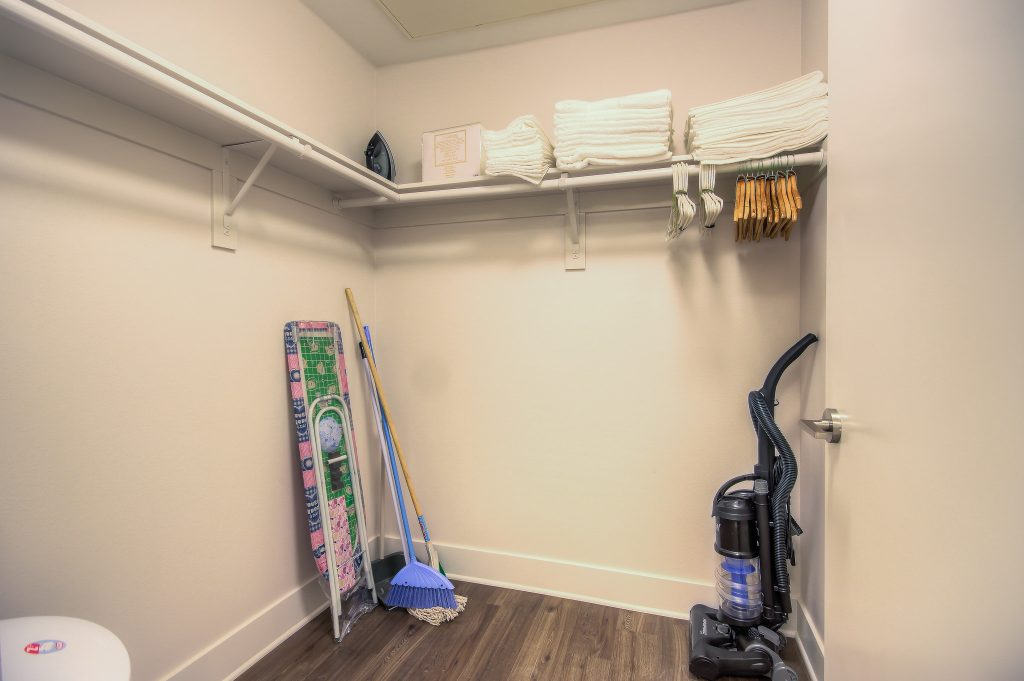 Spacious closets in every unit at Bedford Corporate Housing's property in Playa Vista. For the best temporary housing in Los Angeles, contact Bedford.