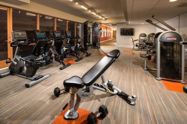 The advanced exercise room at Bedford Corporate Housing's property in Westwood Wilshire Corridor. For the best Furnished Apartments in Los Angeles, contact Bedford.
