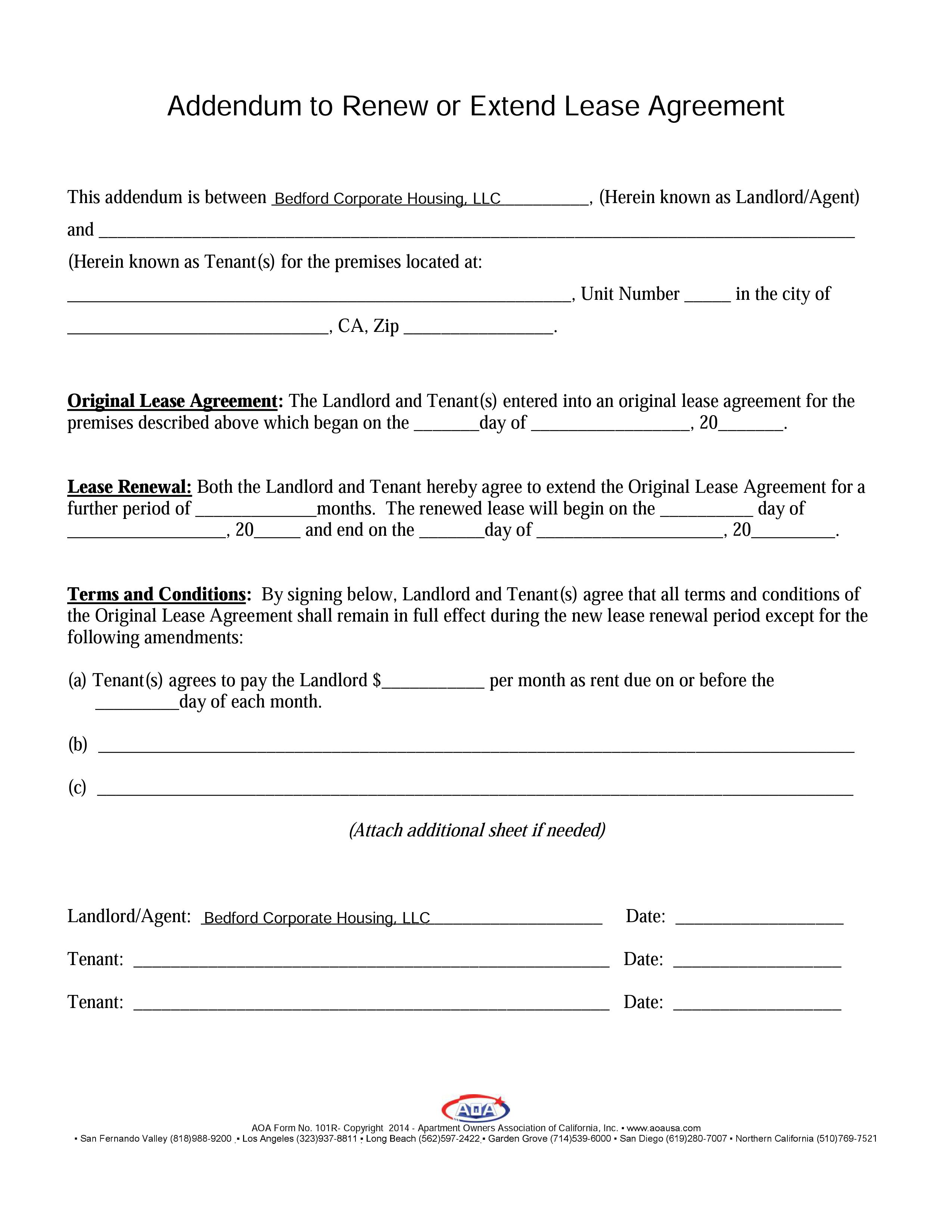Sample Lease Agreements Documents Corporate Housing In Los